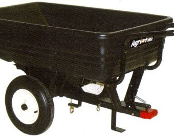 Agri-Fab Convertible Push/Tow Poly Dump Trailer 45-0345