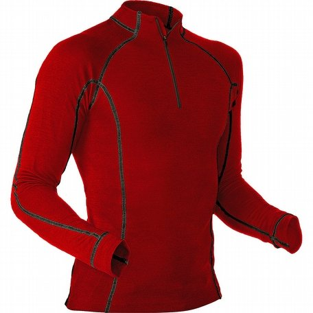 Pfanner Merino Modal Shirt Long Sleeves Red