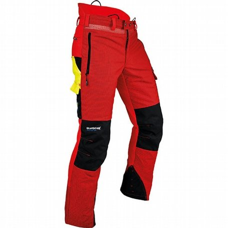 Pfanner Ventilation C Red Chainsaw Trousers