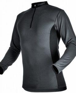 Pfanner Zip Neck Shirt Long Sleeves Grey