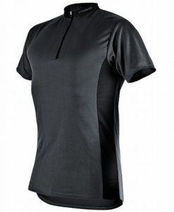 Pfanner Zip Neck Shirt Short Sleeves Grey