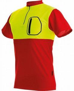 Pfanner Zip Neck Shirt Short Sleeves Hi-Viz