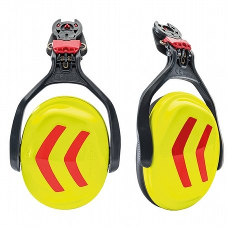 Protos Integral Ear Defenders Neon Yellow Red