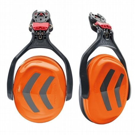 Protos Integral Ear Defenders Orange Grey