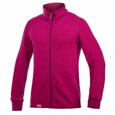 Woolpower Full Zip Jacket Colour Collection 400 Cerise/Purple