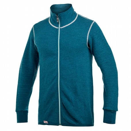Woolpower Full Zip Jacket Colour Collection 400 Petrol/Champagne